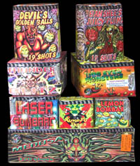Buy Fireworks! Cakes and Barrages